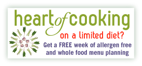 On a limited diet? Get a free week of allergen free and whole food menu planning