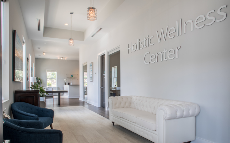 Lobby of the Holistic Wellness Center of the Carolinas in Fort Mill, SC