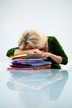 Woman Sleeping On Paper - charlotte hormone imbalance treatment