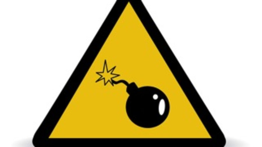 Bomb Warning Sign - charlotte hormone imbalance treatment