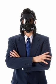 Man With Gas Mask - crohn's disease treatment in charlotte