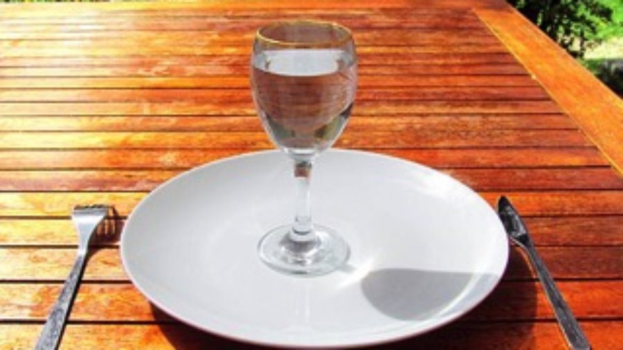 Water Glass On Plate - charlotte functional wellness