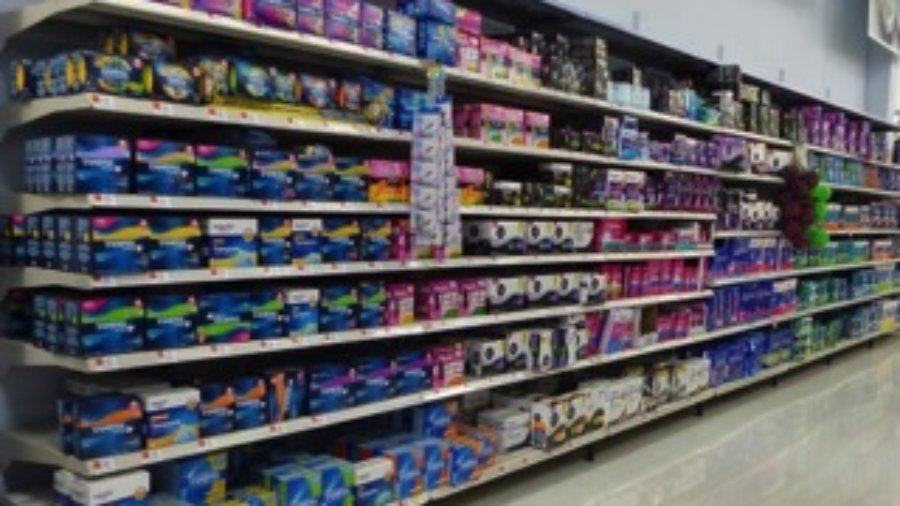 Feminine products loaded with absorbable toxins