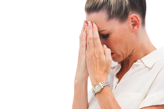 Upset Woman - migraine treatment in charlotte