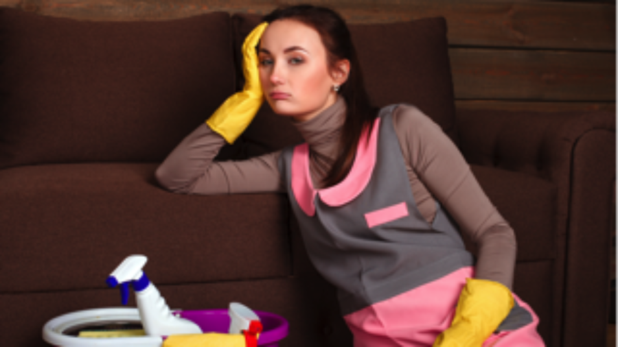 Upset Cleaning Woman - charlotte hormone imbalance treatment