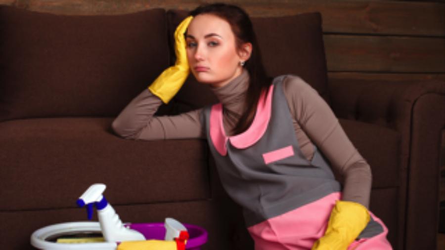 Upset Cleaning Woman - charlotte hormone imbalance treatment