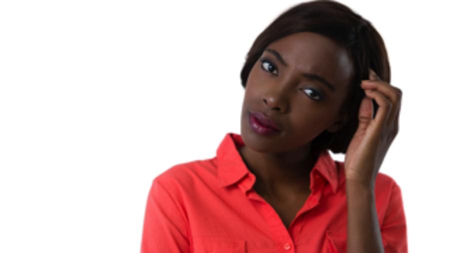 Woman Scratching Head - autoimmune treatment in charlotte