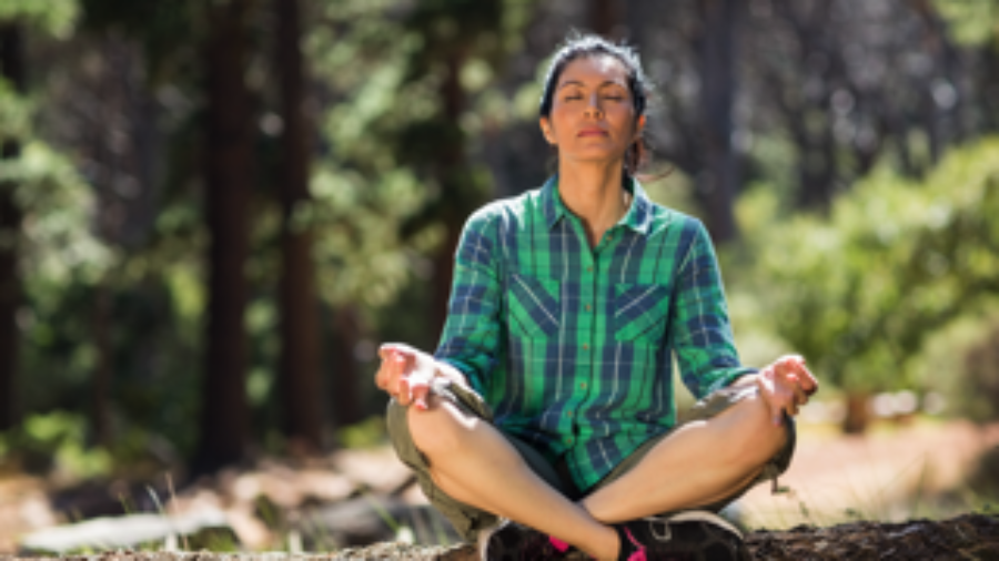 Woman Meditating - charlotte functional wellness
