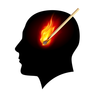 Lit Match In Silhouette Head - charlotte brain inflammation treatment