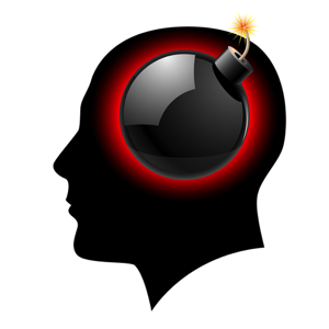 Bomb In Head Silhouette - brain inflammation treatment in charlotte